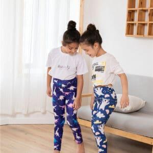 Super Girls Animal Prints Leggings Wholesale